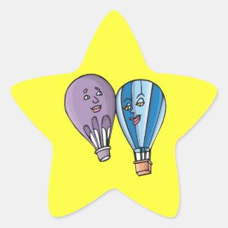 Balloon Romance Star Sticker