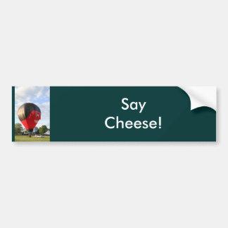 Balloon Say Cheese! Bumper Sticker