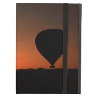 Balloon silhouette at sunrise iPad air case