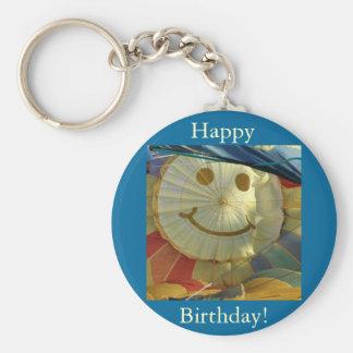 Balloon Smiley Face Happy Birthday Key Chains