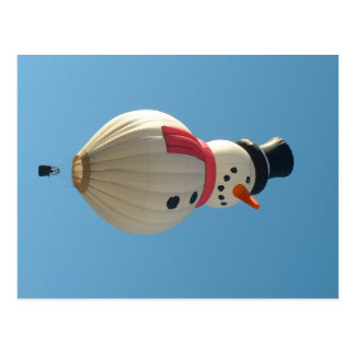 Balloon snow man postcard