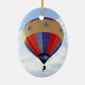 Balloon, Stars!  pendant Double-Sided Oval Ceramic Christmas Ornament