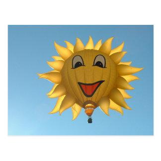 Balloon sunny postcard