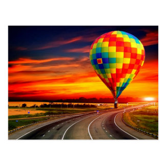 Balloon Sunset Postcard