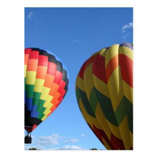 Balloon swirl and zigzag postcard