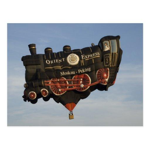 Balloon Take a Train Post Cards