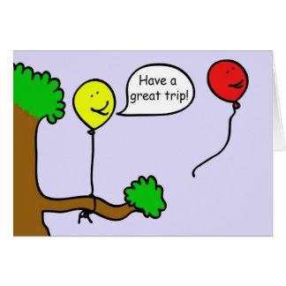 Balloon Taking a Trip Greeting Card