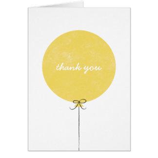 Balloon Thank You Card - Lemon