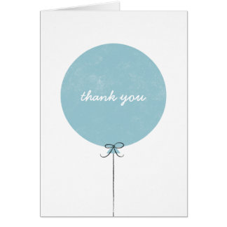 Balloon Thank You Card - Sky