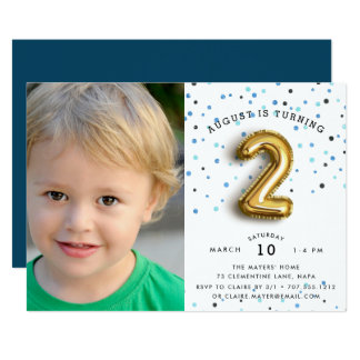 2 Year Old Birthday Invitations Announcements