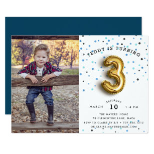 Third Birthday Invitations