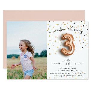 Third birthday invitations zazzle balloon type photo third birthday party invite filmwisefo