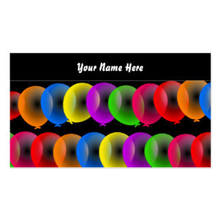 Balloon Wallpaper, Your Name Here Double-Sided Standard Business Cards (Pack Of 100)