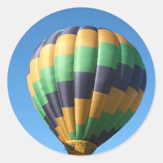 Balloon, wave classic round sticker