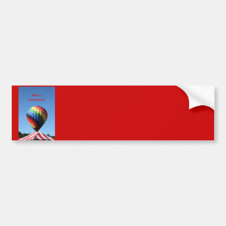 Balloon with a Candy Cane tent!  Merry Christmas! Bumper Stickers