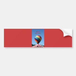 Balloon with Candy Cane Stripe, Merry Christmas! Car Bumper Sticker