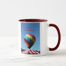 Balloon with Candy Cane Stripe, Merry Christmas! Mug