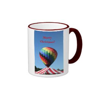 Balloon with Candy Cane Stripe, Merry Christmas! Mug
