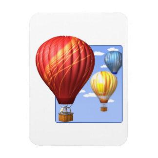 Ballooning 2 rectangular photo magnet