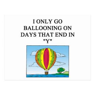 ballooning balloonist postcard