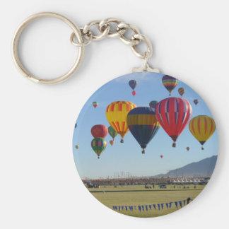 Ballooning Basic Round Button Keychain