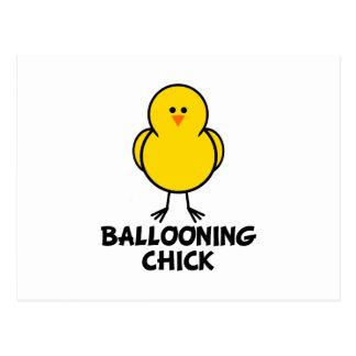 Ballooning Chick Postcard