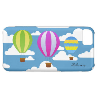 Ballooning Colorful Hot Air Balloons in the Clouds Cover For iPhone 5C