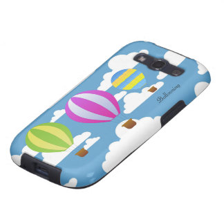 Ballooning Colorful Hot Air Balloons in the Clouds Galaxy S3 Cover