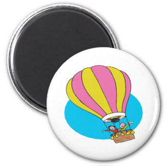 Ballooning Couple 2 Inch Round Magnet