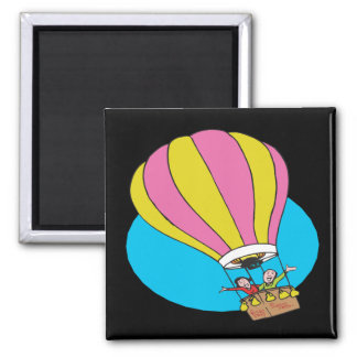 Ballooning Couple 2 Inch Square Magnet