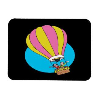 Ballooning Couple Rectangular Photo Magnet