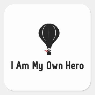 Ballooning Hero Square Sticker