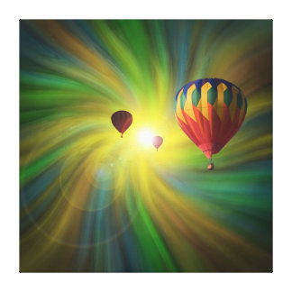 Ballooning in Fantasy Vortex Wrapped Canvas