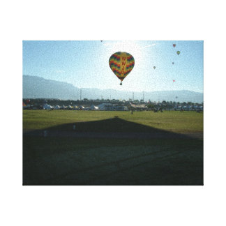 Ballooning in the morning canvas print