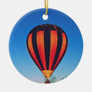 Ballooning in the outback ceramic ornament