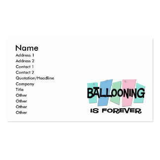 Ballooning Is Forever Business Card