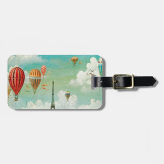 Ballooning Over Paris Bag Tag