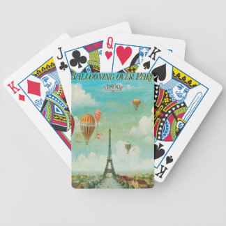 Ballooning Over Paris Bicycle Playing Cards