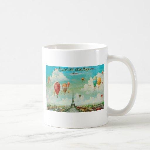 Ballooning Over Paris Coffee Mug
