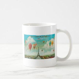Ballooning Over Paris Coffee Mugs
