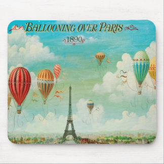 Ballooning Over Paris Mouse Pad