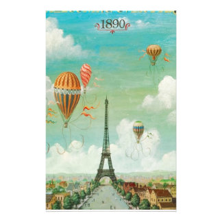 Ballooning Over Paris Personalized Stationery