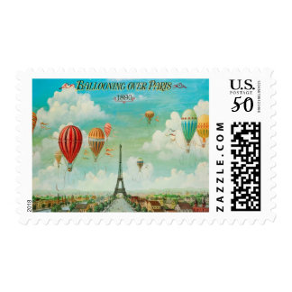 Ballooning Over Paris Stamps