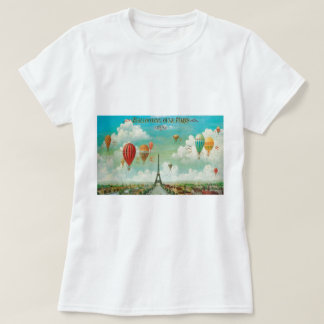 Ballooning Over Paris Tee Shirt