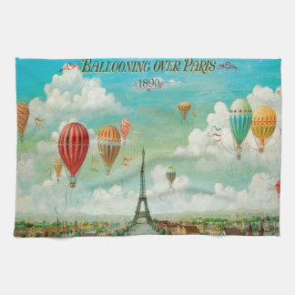 Ballooning Over Paris Towels