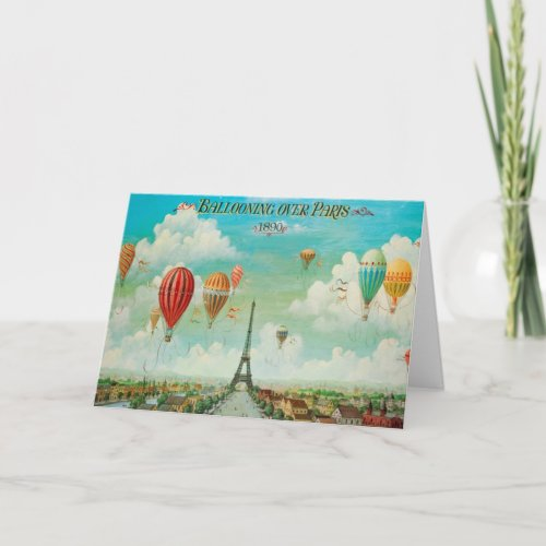 Ballooning Over Paris Vintage Travel