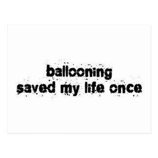 Ballooning Saved My Life Once Postcard