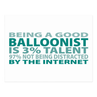 Balloonist 3% Talent Postcard