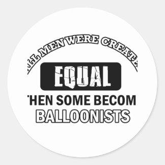 Balloonist designs classic round sticker