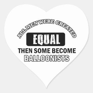 Balloonist designs heart sticker
